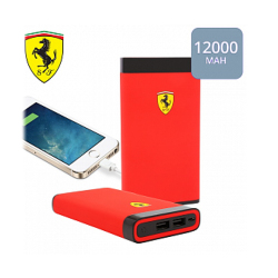 Power bank 12000mAh Ferrari Portable rubber Red (3700740374566)