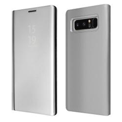 """ΘΗΚΗ BOOK """"OKKES"""" ® """"Milo Mirror"""" for Samsung N950F Galaxy Note8 Silver"""