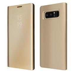 """ΘΗΚΗ BOOK """"OKKES"""" ® """"Milo Mirror"""" for Samsung N950F Note8 GOLD"""