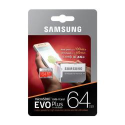 Samsung EVO Plus MicroSDXC UHS-I U3 64GB Class 10 2017 incl. SD-Adapter MB-MC64GA/EU