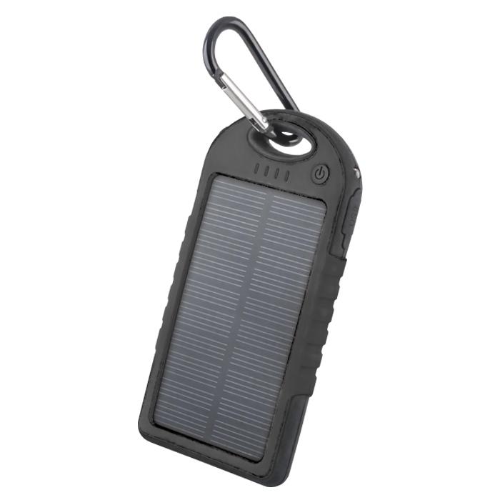 Solar power bank 5000 mAh PB-016 black