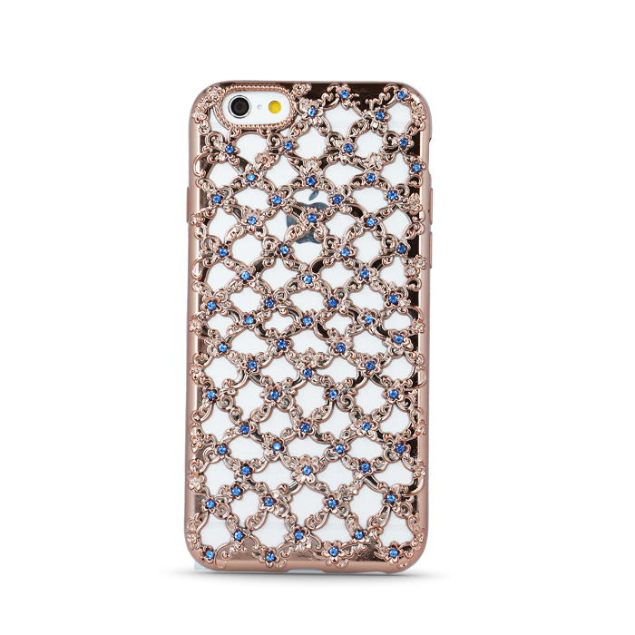 ΘΗΚΗ Flower Diamond TPU for iPhone 7 rose gold (5900495487650)