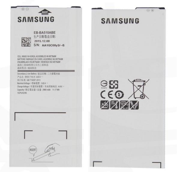 ΜΠΑΤΑΡΙΑ SAMSUNG EB-BA510ABE A510F Galaxy A5 2016 Li-Ion 2900mAh Original Bulk