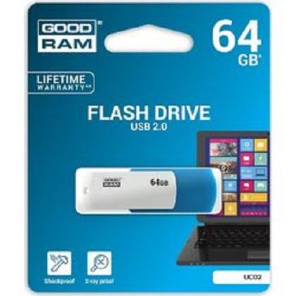 GOODRAM MEMORY USB UCO2 64GB USB 2.0 Blue/White