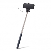 Forever monopod with audio cable MP-400 black (5900495363763)