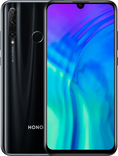 HONOR 20 LITE HRY-LX1T 128GB ROM/4GB RAM DUAL SIM MIDNIGHT BLACK EU