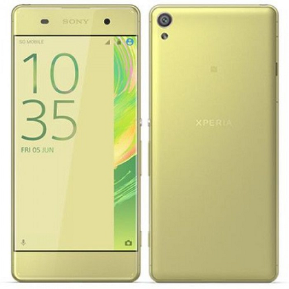 SONY XPERIA XA Single Sim F3116,16GB ROM/2GB RAM LTE LIME GOLD EU