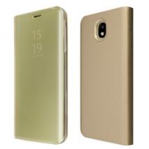 """ΘΗΚΗ BOOK """"OKKES"""" ® """"Milo Mirror"""" for Samsung J330F Galaxy J3 2017 Duos Gold"""