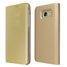 """ΘΗΚΗ BOOK """"OKKES"""" ® """"Milo Mirror"""" for Samsung A320F Galaxy A3 2017 Gold"""