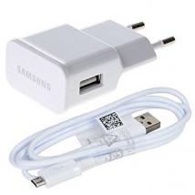 Samsung Φορτιστής Ταξιδίου ETA-U90E + USB CABLE ECB-DU4AWE 2000mAh ORIGINAL WHITE BULK