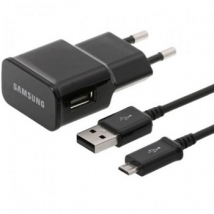 Samsung Φορτιστής Ταξιδίου ETA-U90E + USB CABLE ECB-DU5ABE 2000mAh ORIGINAL BLACK BULK