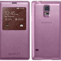 ΘΗΚΗ SAMSUNG S-View EF-CG900BP Galaxy S5 Pink