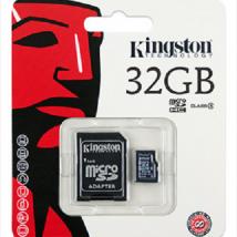 KINGSTON MicroSDHC 32GB C10 +SD Adapter